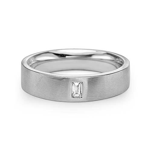 0 20 F Vs2 Emerald Cut Diamond Wedding Band 14k White Gold